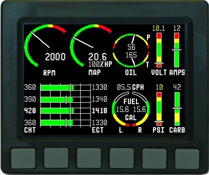 Dynon Avionics Ems D10 Engine Monitor From Aircraft Spruce