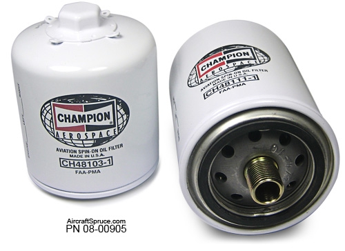 ch48110 1 champion oil filter from aircraft spruce europe. Black Bedroom Furniture Sets. Home Design Ideas