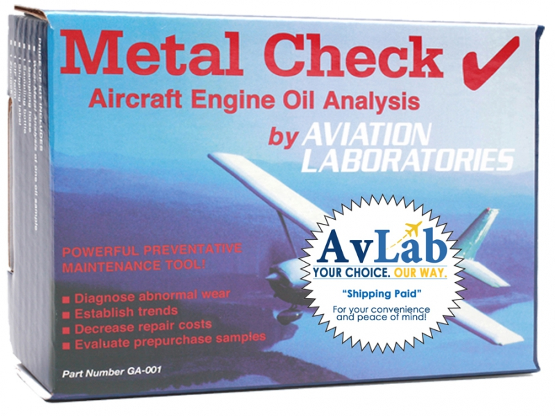 Avlab Oil Analysis Kit Lrg From Aircraft Spruce Europe